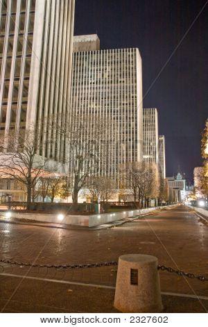 Empire State Plaza At Night