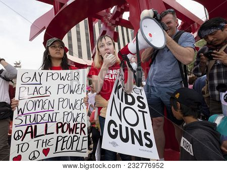 Tucson, Az - March: Unidentified Young Woman At March For Our Lives Gun Violence Protest Organized B