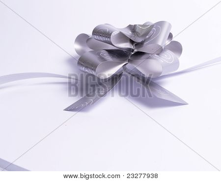 White Multiple Ribbon With Bow