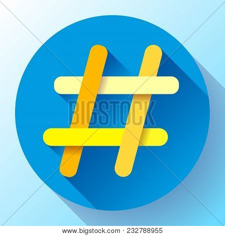 Hashtags Icon Flat Tweet Vector Social Media Community Sign Symbol - Hash Tag