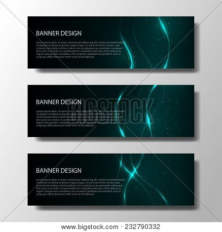 Abstract Vector Banners With Bright Geometric Background Annual Report Design Templates Future Poste