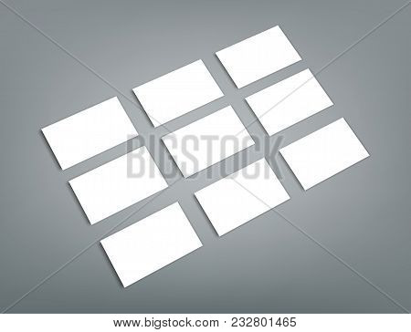 Blank Business Card With Shadow Mockup Cover Template