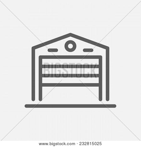 Warehouse Icon Line Symbol. Isolated Vector Illustration Of Storage Sign Concept For Your Web Site M