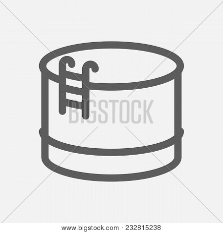 Oil Warehouse Icon Line Symbol. Isolated Vector Illustration Of Petrol Depot Sign Concept For Your W