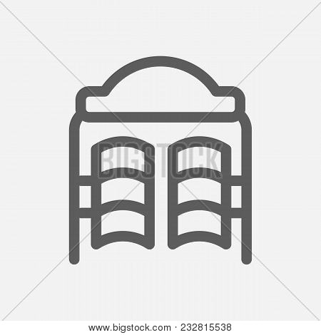Travel City Series. Symbol Of Country Texas City Icon. Isolated Vector Illustration Of Texas, Bar Do