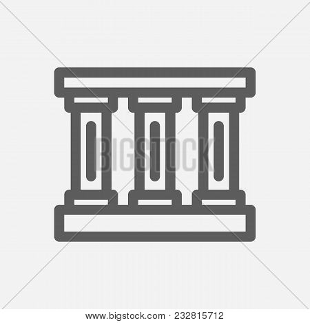 Travel City Series. Symbol Of Country Greek City Icon. Isolated Vector Illustration Of Greek, Pillar