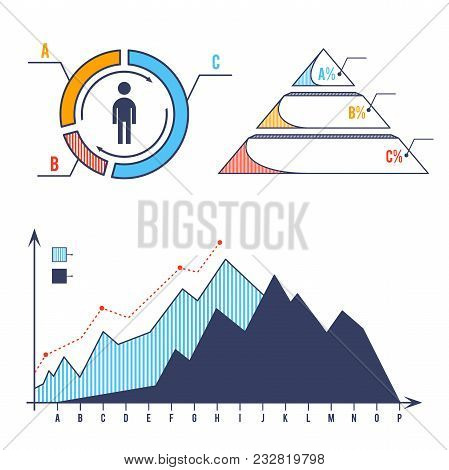 Set Bar Chart Diagram Infographic Elements Concept With Stage Elements. Creative Business Infographi