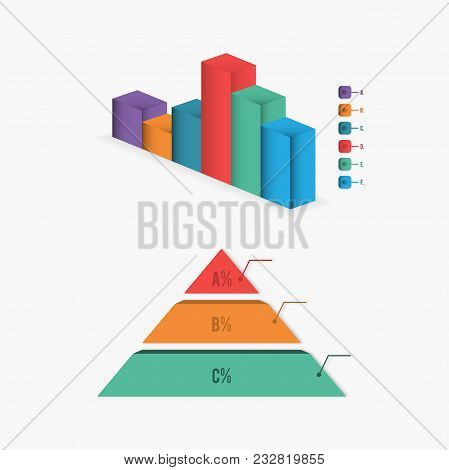 Bar Chart Diagram Infographic Elements Concept With Stage Elements. Creative Business Infographic El
