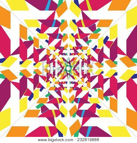 Hypnotic Abstract Geometric Colorful Background. Abstract Colorful Concept Design. Vector Illustrati