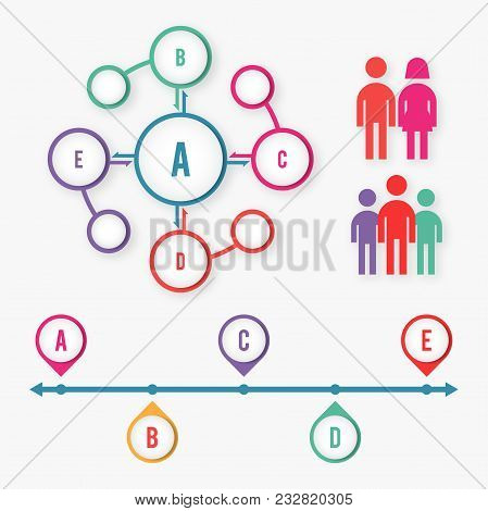Abstract Diagram Social Media Infographic Elements Concept With Stage Elements. Creative Business In