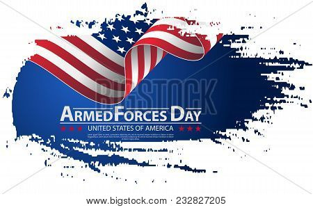 Armed Forces Day Template Poster Design. Vector Illustration Background For Armed Forces Day. Vector