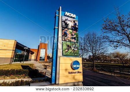 Indianapolis - Circa March 2018: National Collegiate Athletic Association Headquarters. The Ncaa Reg