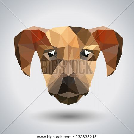 Abstract Polygonal Tirangle Animal Dog. Hipster Animal Illustration.
