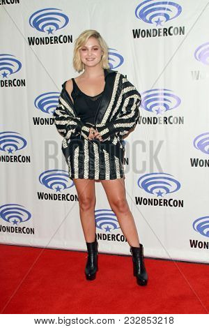 Olivia Holt attends day one of the 32nd Annual WonderCon Convention in Anaheim, CA on March 23, 2018.