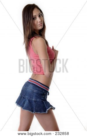 Pretty Young Girl In Mini Skirt