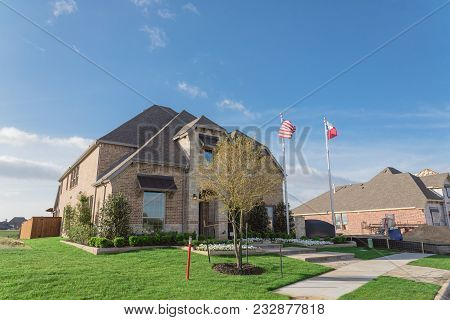 Model Home And Construction Office In Irving, Texas, Usa