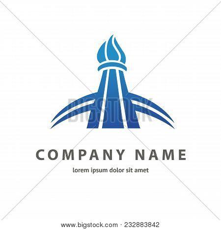 Logo Design Building Vector Template Flat Simple Skyscraper, Business Center, Hotel