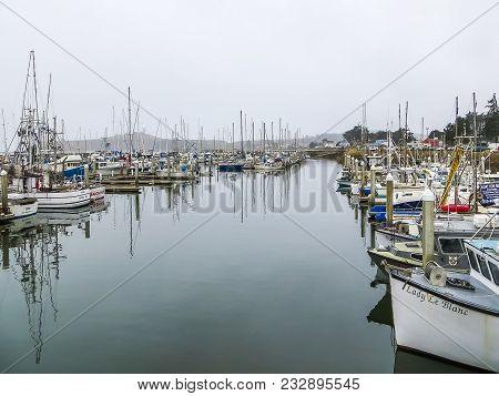 Half Moon Bay, Ca Usa - 08/09/2013 - Half Moon Bays Fisherman Boats