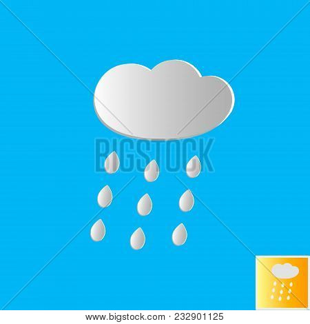 Floating Paper Clouds Background - Vector Floating Paper Clouds On A Blue Background. Eps10 File Wit
