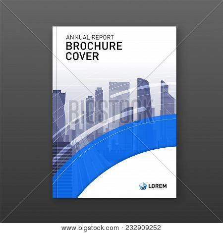 Real Estate Brochure Design. Business Brochure Cover Design Layout. Good For Corporate Catalog, Annu