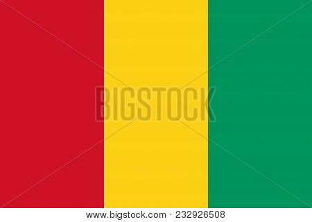Flag Of Guinea Official Colors And Proportions, Vector Image