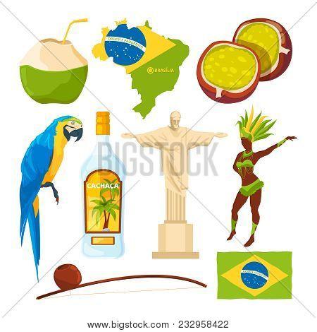 Brazilian Landmarks And Different Cultural Symbols. Brazil Travel, Brazilian Culture, Carnival And L