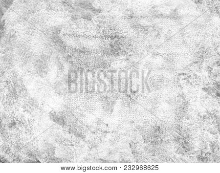 Subtle Grain Texture. Abstract Black And White Gritty Grunge Background. Dark Paint Spray And Stroke