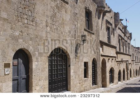 Street of the Knights, Rhodes old town, Greece.