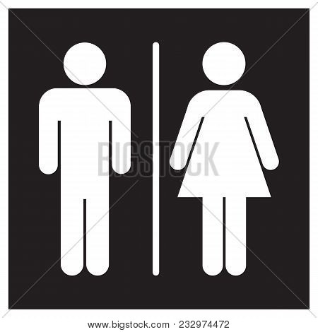 Male And Female Bathroom Sign Icon Toilet Restroom