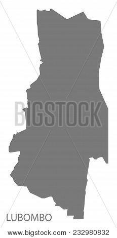 Lubombo Map Of Swaziland Grey Illustration Shape