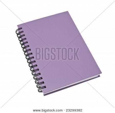 Stack Of Ring Binder Book Or Violet Notebook