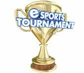 eSports Tournament Trophy Award Winner Prize 3d Illustration poster