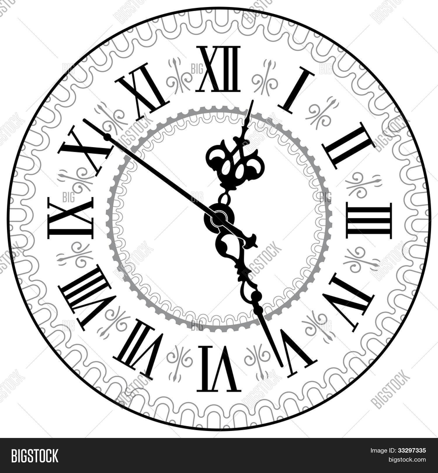 Zandloper Tekening Kleurplaat Antique Clock Vector Vector Amp Photo Free Trial Bigstock