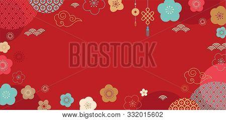 Happy Chinese New Year Design. 2020 Rat Zodiac. Cute Mouse Cartoon. Japanese, Korean, Vietnamese Lun