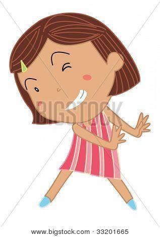 Cartoon von eine niedliche kleine Mädchen-Eps-Vektor-Format auch in mein Portfolio verfügbar.