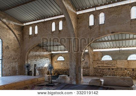 Rosh Haayin, Israel, October 31, 2019 : The Reconstructed Building Of The Byzantine Era In The Archa