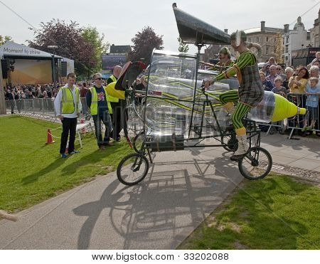 A wind generating mechanism created as part of the Battle for the Winds Parade