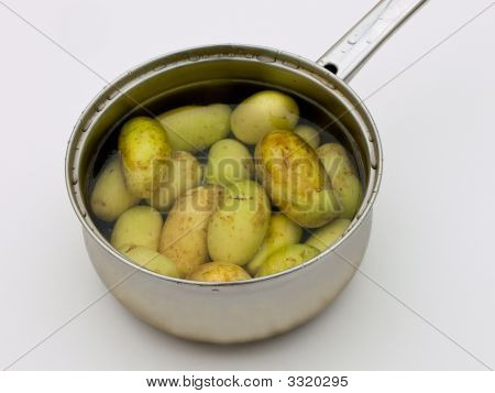 Boiled Potatoes In Pan
