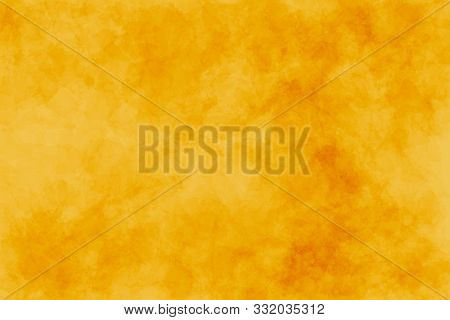 Abstract Modern Painting . Dry Brush Painted Paper , Canvas , Wall . Textured Background In Yellow ,