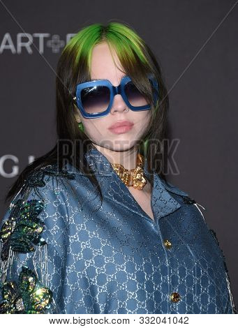 LOS ANGELES - NOV 02:  Billie Eilish arrives for the LACMA Art and Film Gala 2019 on November 02, 2019 in Los Angeles, CA