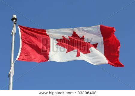 A Flowing Flag of Canada