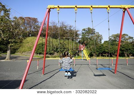 Japanese Girl On The Swing (appearance From Behind) (5 Years Old)