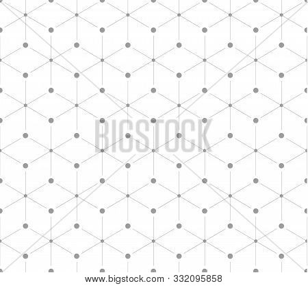 Vector Seamless Pattern, Repeating Geometric Square Grid. Pattern Included In Swatch. Vector Illustr