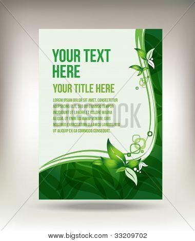 Eco green leaf flyer design