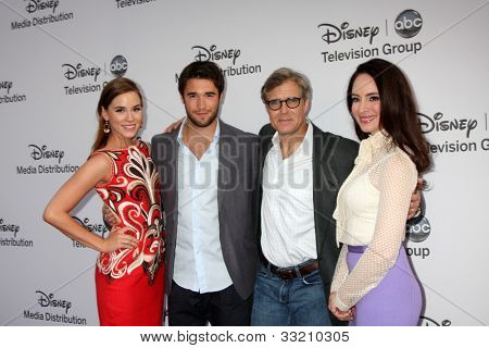 LOS ANGELES - MAY 20:  Christa B ALlen, Joshua Bowman, Henry Czerny, Madeleine Stowe arrives at the ABC / Disney International Upfronts at Walt Disney Studios Lot on May 20, 2012 in Burbank, CA