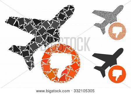 Airplane Fail Mosaic Of Irregular Parts In Variable Sizes And Color Tints, Based On Airplane Fail Ic