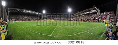 Panorama of a soccer stadium