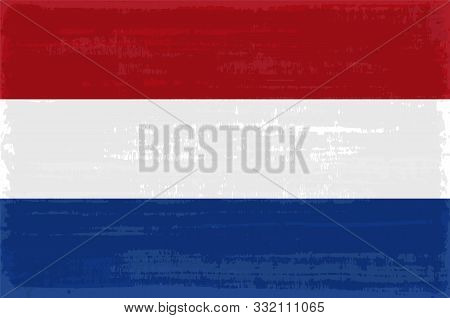 Netherlands National Flag Isolated Vector Illustration. Travel Map Design Graphic Element. Europe Co