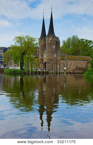 old city gate to  Delft, Netherlands