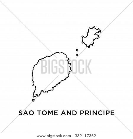 Sao Tome And Principe Map Vector Design Template
